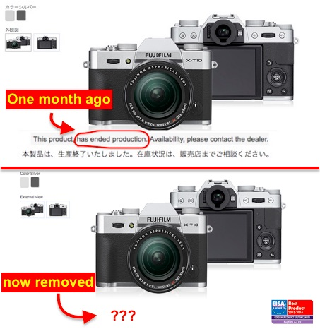 fujifilm-x-t10-discontinued