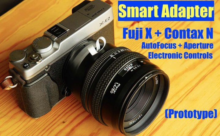 World's First Fujifilm X - Contax N Smart Adapter with ...