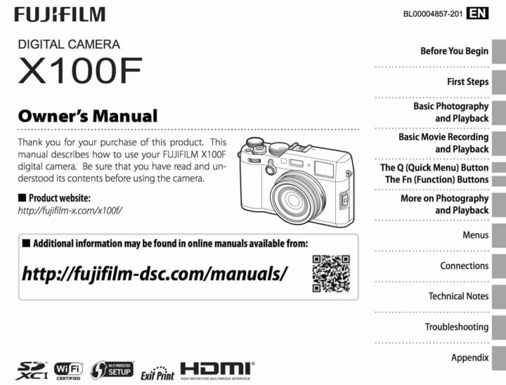 fujifilm x100f owner s manual available for fujirumors readers rh fujirumors com owners manual hem h160m owners manual he30er-l
