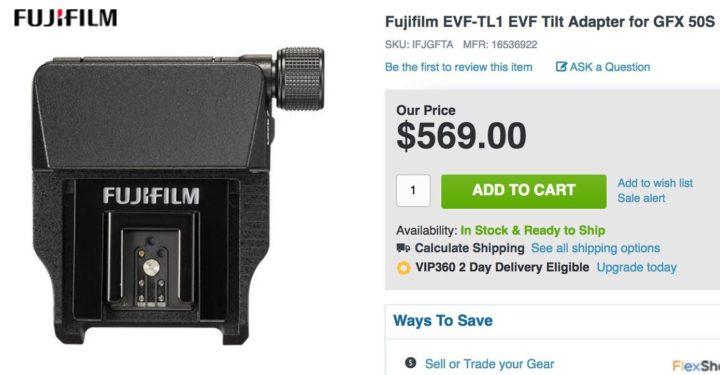 IN STOCK: Fujifilm EVF-TL1 EVF Tilt Adapter for GFX 50S