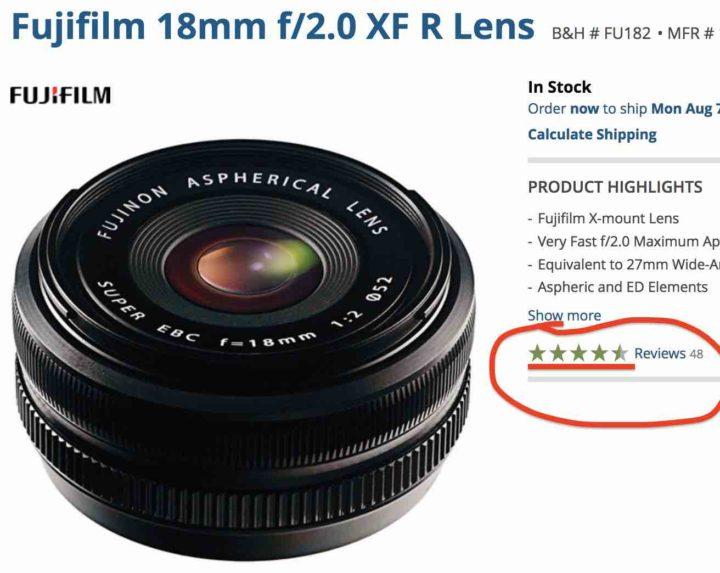 Fujinon XF 18mm F2 Reviews? Not so bad... at BHphoto