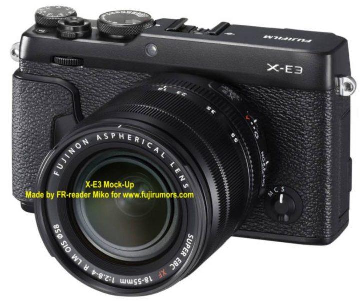 Fujifilm X-E3 Mock-up