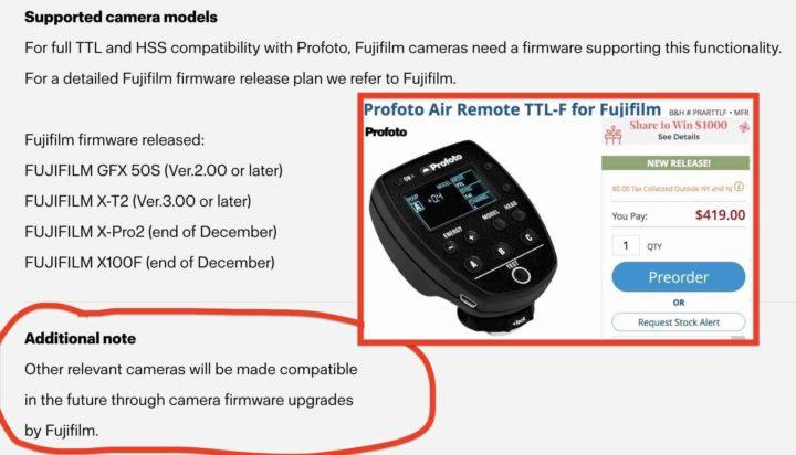 profoto click to start firmware update air remote ttl-c
