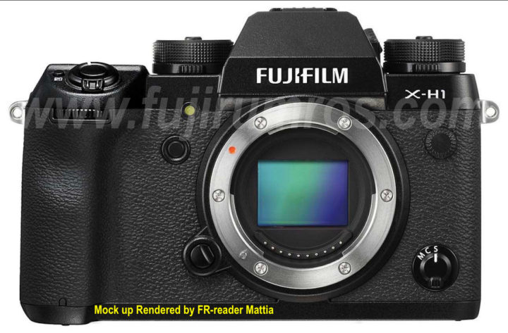 Fujifilm X-H1 Mock-ups based on accurate sketches of our Japanese Source