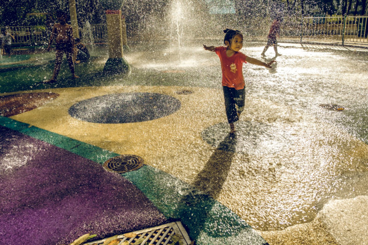 Aquatic Fairy - kids finding relief from the heat, Cong Vien Cay Xanh, HCMC, Vietnam, 2017