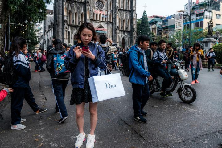 Shopping Spree - St Joseph's Cathedral, Old Quarter, Hanoi, Vietnam, 2017