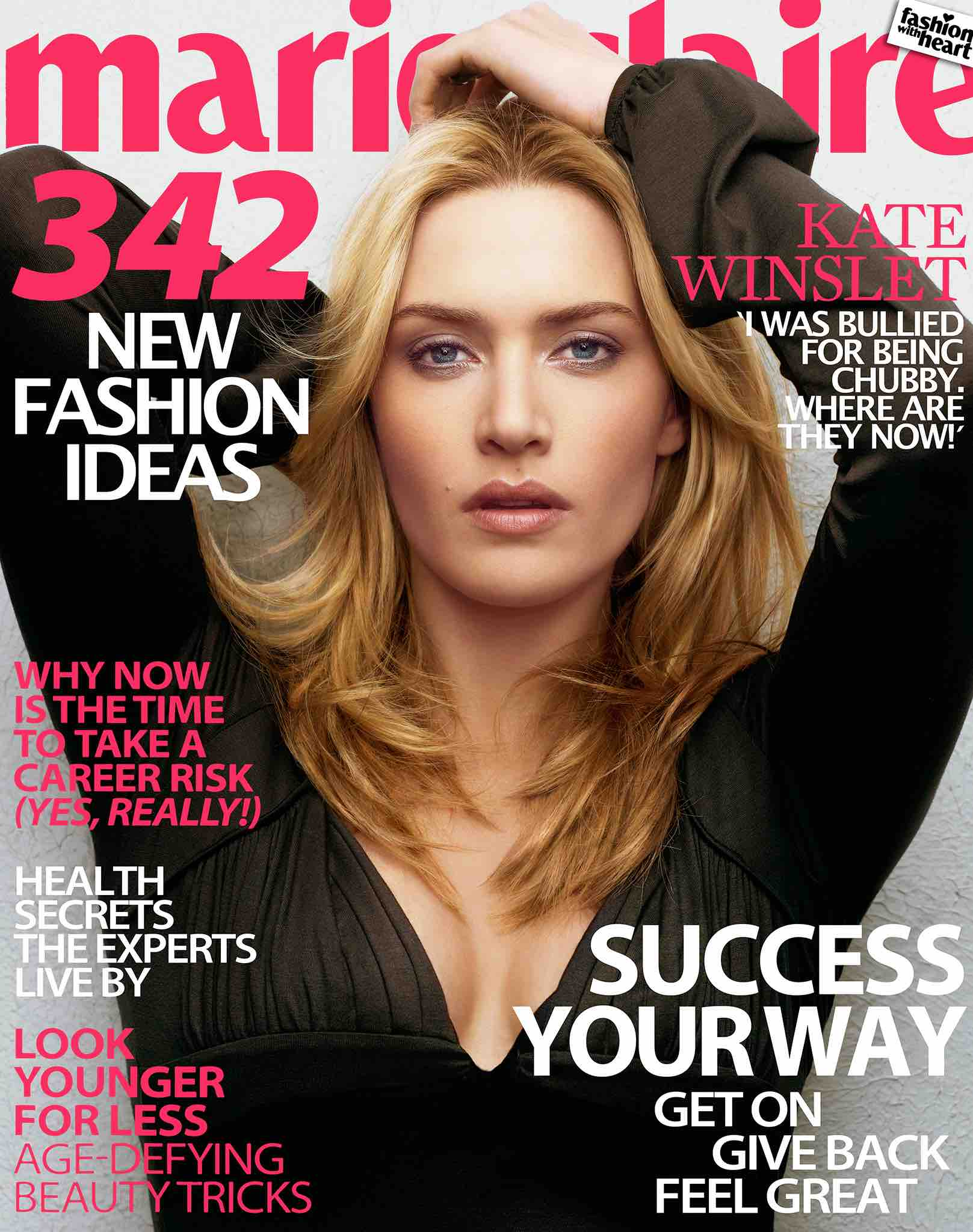 Kate Winslet cover shoot, with a Broncolor Para 330, New York, 2006. (photo by Markus Klinko)