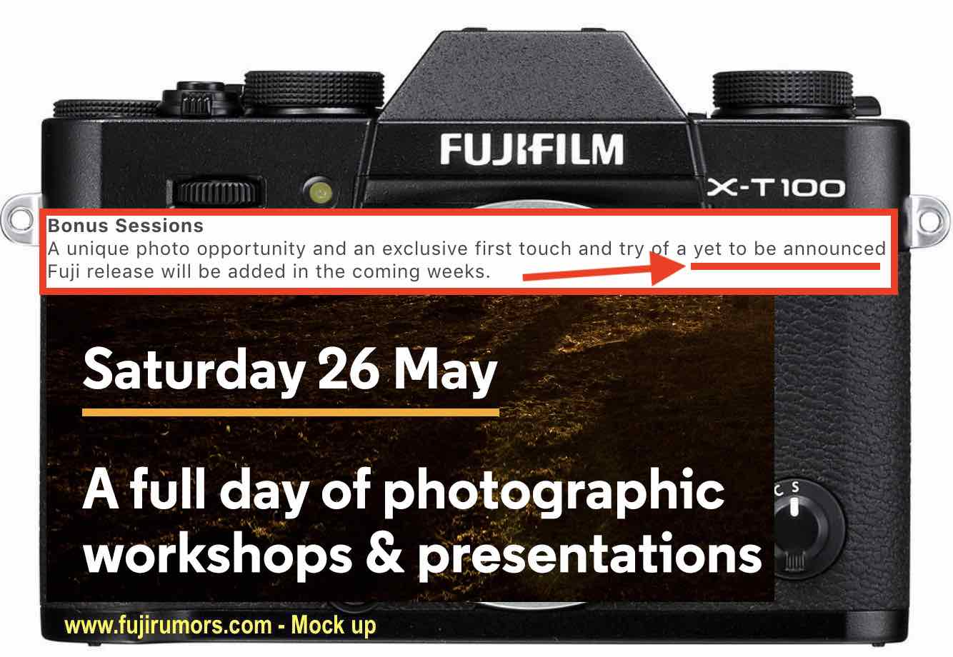 Fuji will announce the new X-T100, Instax SQ6 within May 26