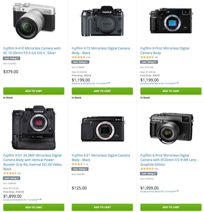 HUGE Selection of USED Fujifilm Camera, Lenses and