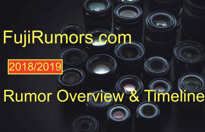 Fujifilm Rumor Timeline 2018/2019 - The Complete Overview on