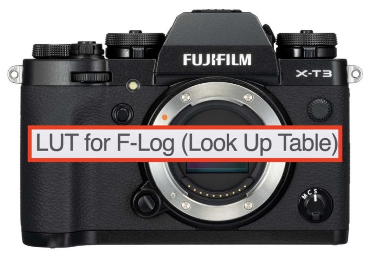 Fujifilm X-T3 Look Up Table for F-Log Available Now and First