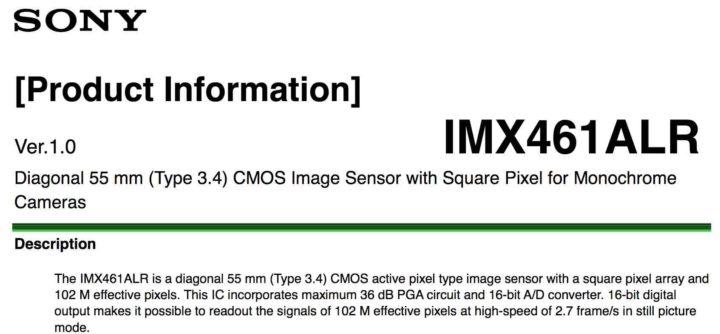 Sony Publishes New Sensor Information for Fujifilm GFX 100