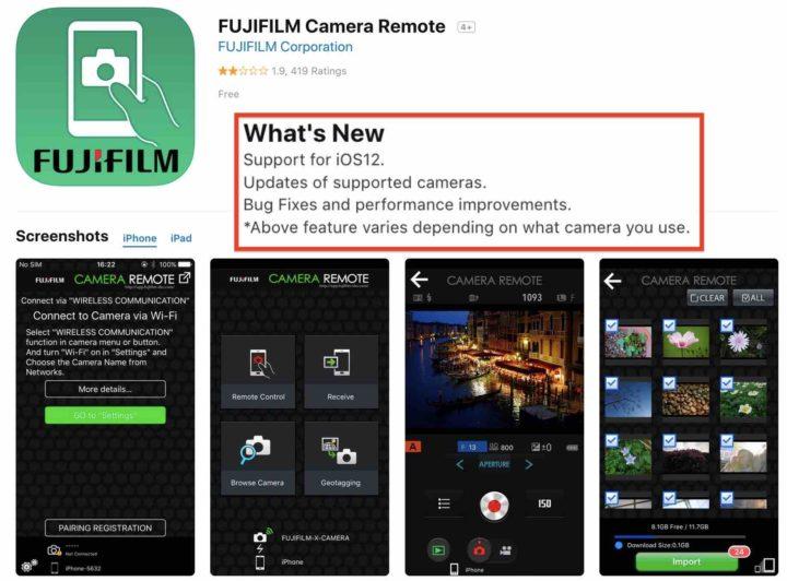 Приложение fujifilm camera remote скачать химия 8 класс электронное приложение скачать