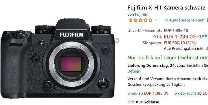 Drastic Price Drop for Fujifilm X-H1, X-T2, X-T20, X-E3 and