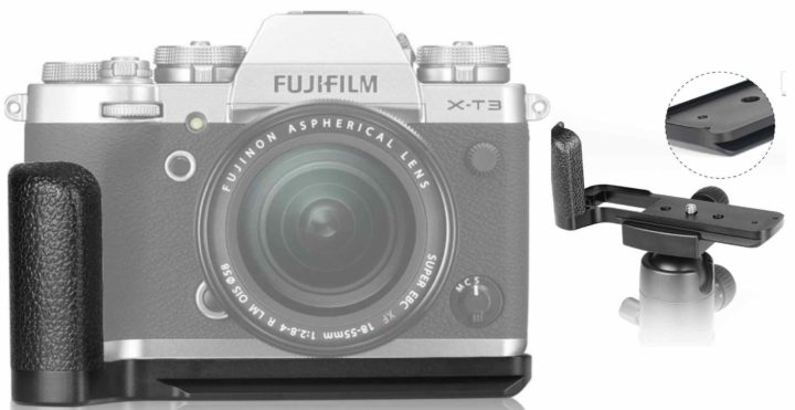 New Meike Arca Swiss Hand Grip for Fujifilm X-T3 Available