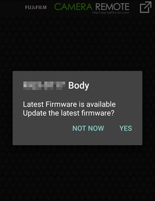 The smartphone will display a notice when firmware is available for download