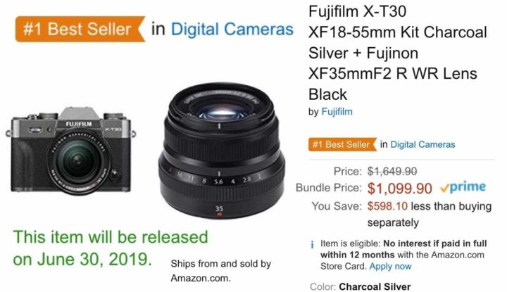 ACT FAST: Fujifilm X-T30 with XF18-55 and XF35mmF2 now $1,099 only.. and More Fujifilm Deals to Save up to $1,000