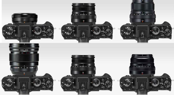 Fujifilm X-T30 with XF16mm f/2 8 Size Comparisons vs Sony A6400