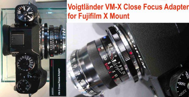 Voigtländer VM-X Close Focus Adapater for Fujifilm X Mount Cameras