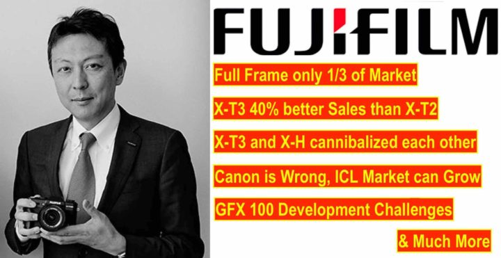 Fujifilm Managers Q&A: Canon is Wrong, Full Frame only 1/3 of Market