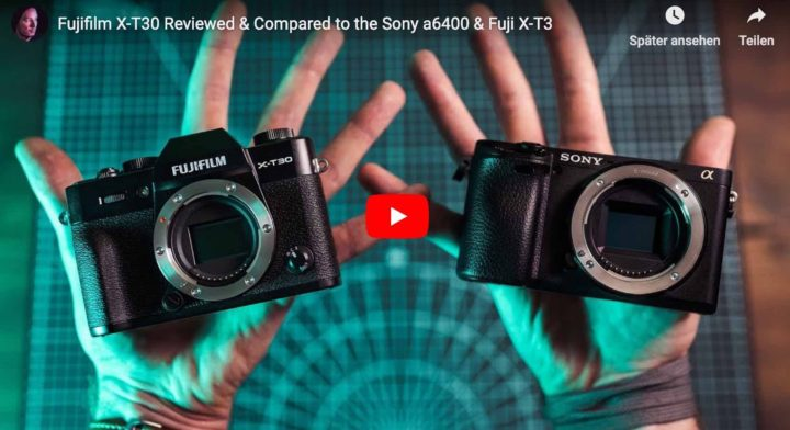 Fujifilm X-T30 Beats Sony a6400 in Autofocus Stills Tracking, but Sony A6400 Better for Video and Vice Versa