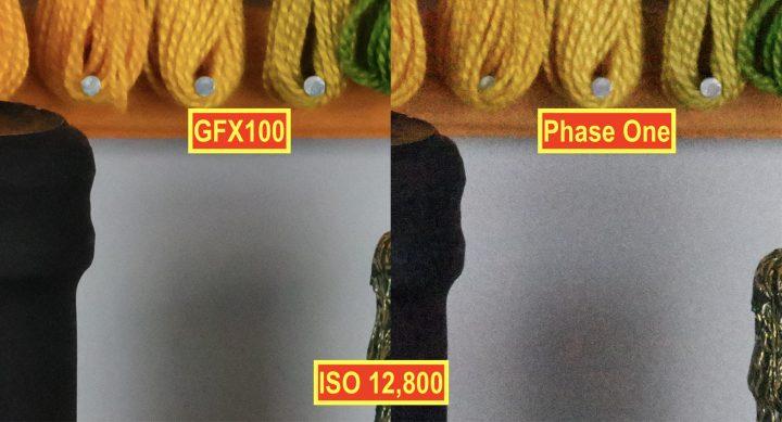 Fujifilm GFX100 vs Phase One XF IQ3 @ ISO12,800