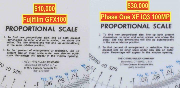 Fujifilm GFX100 vs Phase One XF IQ3 @ ISO100