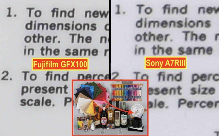 GFX100 vs a7rIII @ ISO200
