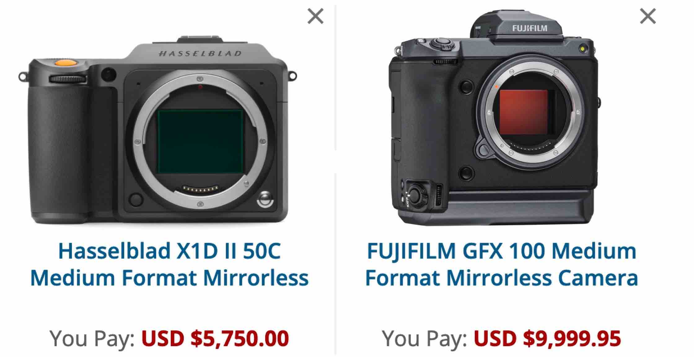 Let's Get Serious: Hasselblad X1D II 50C not a Fujifilm GFX