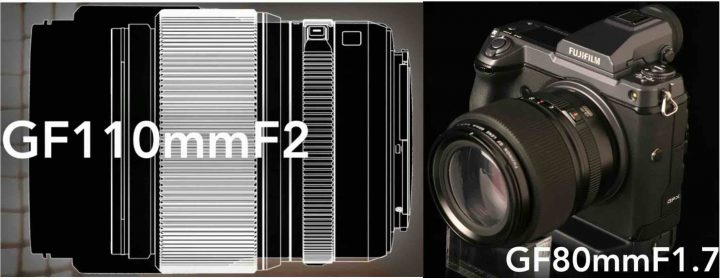 LEFT: GF110mm f/2 vs GF 80mm f/1.7 Size Comparison // RIGHT: GF 80mm f/1.7 mockup