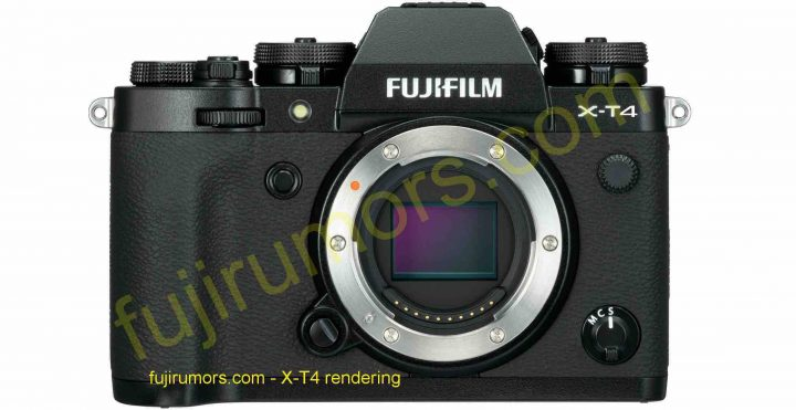X-T4 front (rendered by FujiRumors.com)