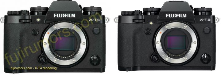 the X-T4 assist lamp has moved up a bit compared to X-T3