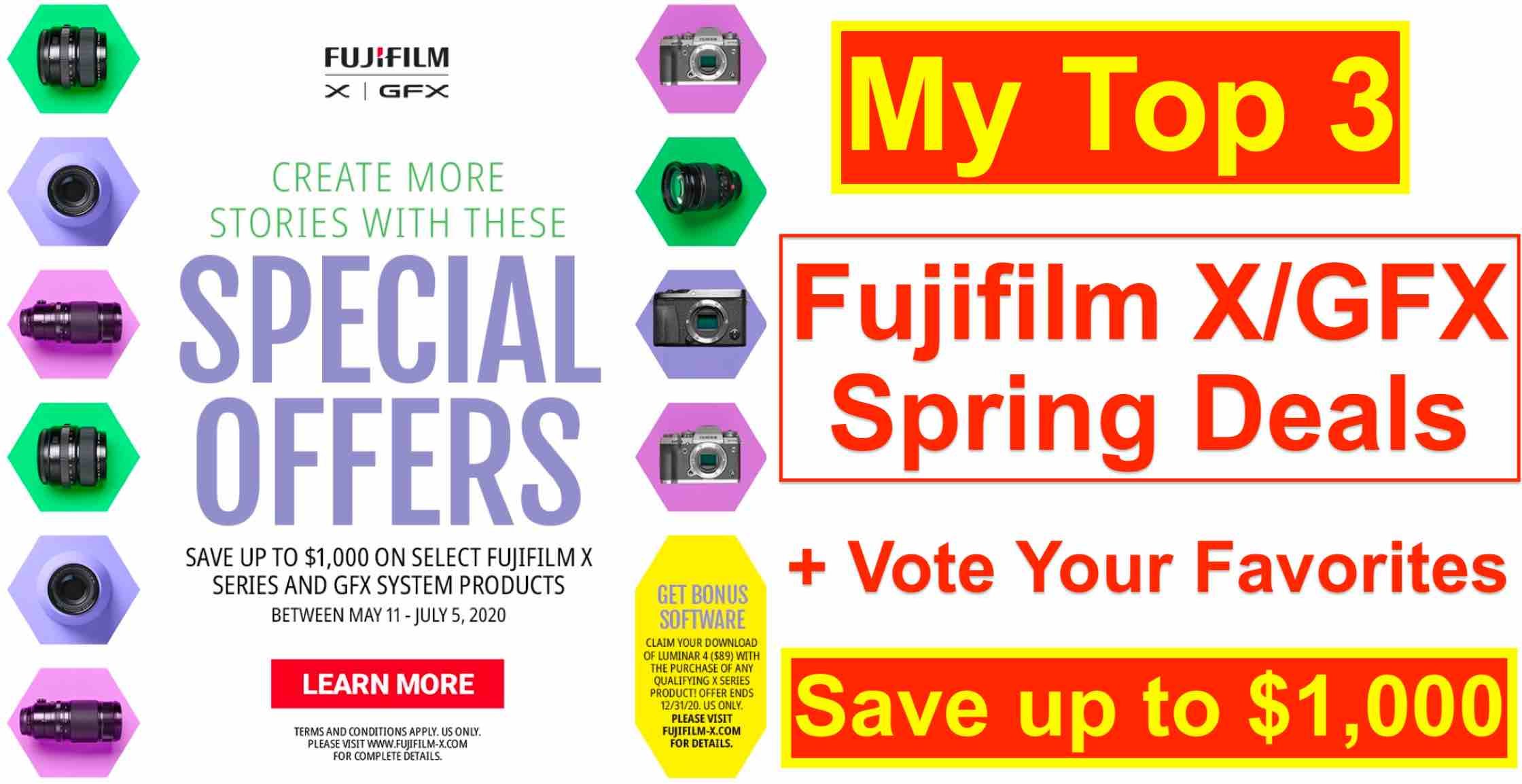 Fujifilm Usa New Big X Gfx Deals Here Are My Top 3 Deal Picks And Vote Your Favorites Fuji Rumors