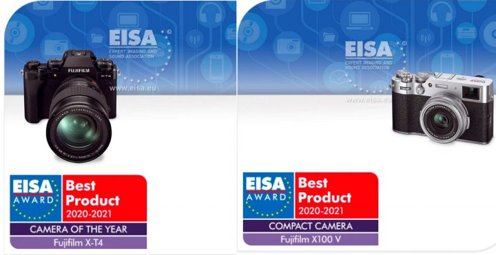 Best Compact Camera 2021 EISA Awards: Fujifilm X T4 Best Camera of the Year and X100V Best