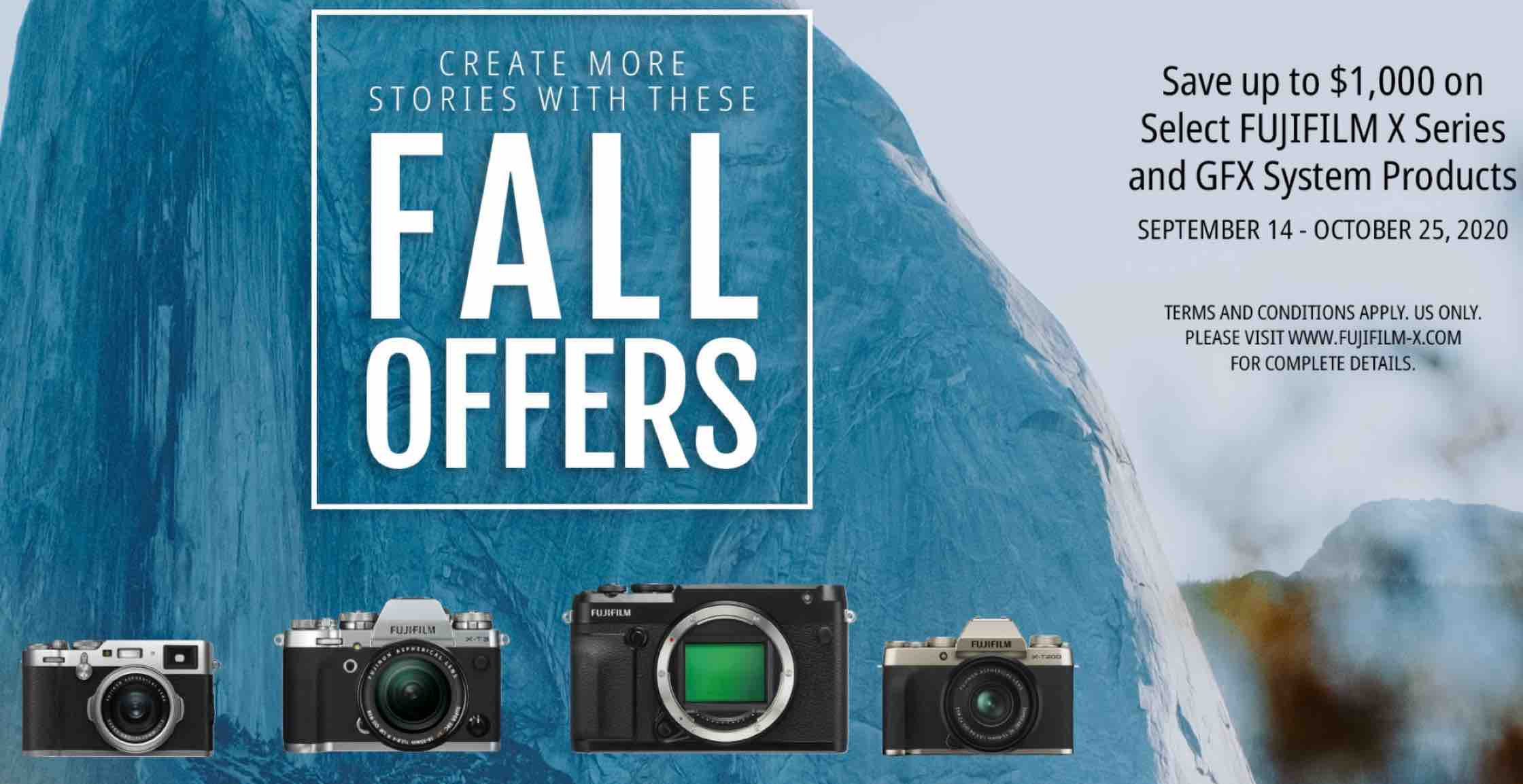 New Fujifilm Usa Fall Offers Save Big On Fujifilm X Gfx Gear Including 150 Price Drop On Xf56mmf1 2 Fuji Rumors