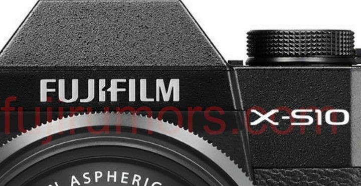 Fujifilm X-S10 mock-up by fujirumors (not the real camera)