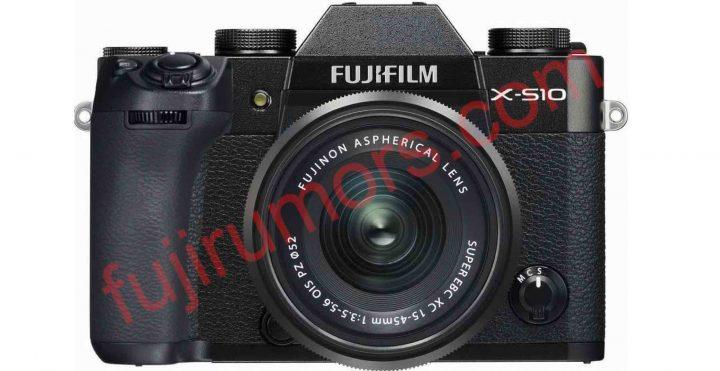 Fujifilm X-S10 mockup by FujiRumors (not the real camera)
