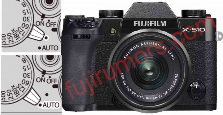 LEFT: AUTO mode on X-T30 *** RIGHT: X-S10 mockup by FujiRumors (not real camera)