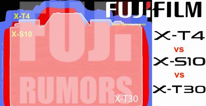 Fujifilm-X-S10-X-T4-X-T30-Size-Comapriso