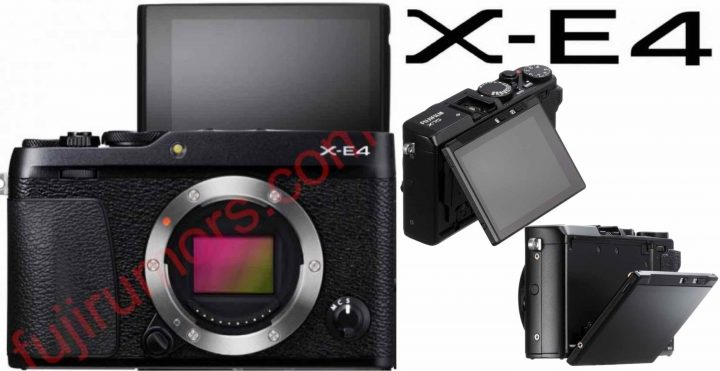 LEFT: Fujifilm X-E4 mock-up (not real)  RIGHT: X70 screen