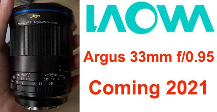 image shows the Laowa Argus 35mm f/0.95 for Full Frame