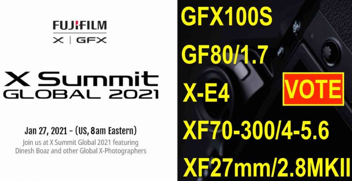 Fujifilm X Summit: Which Product are YOU Looking Forward Most? VOTE NOW!