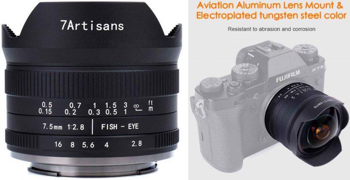 7Artisans 7.5mm F2.8 II Fisheye Lens Available - Fuji Rumors
