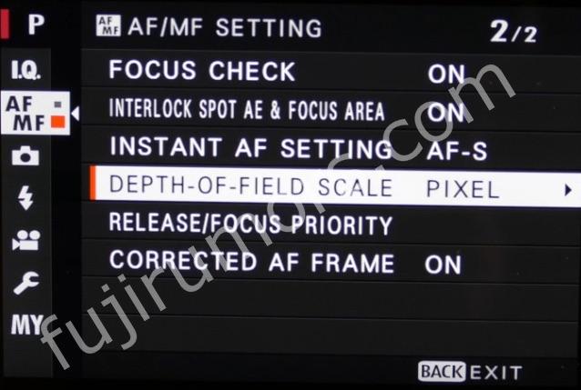 DOF scale