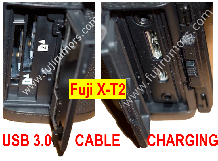 Fuji X-T2 USB Cable Charge