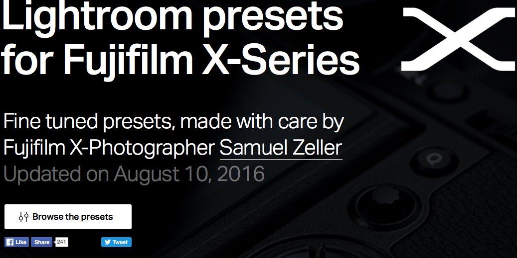 Fujifilm Lightroom Presets