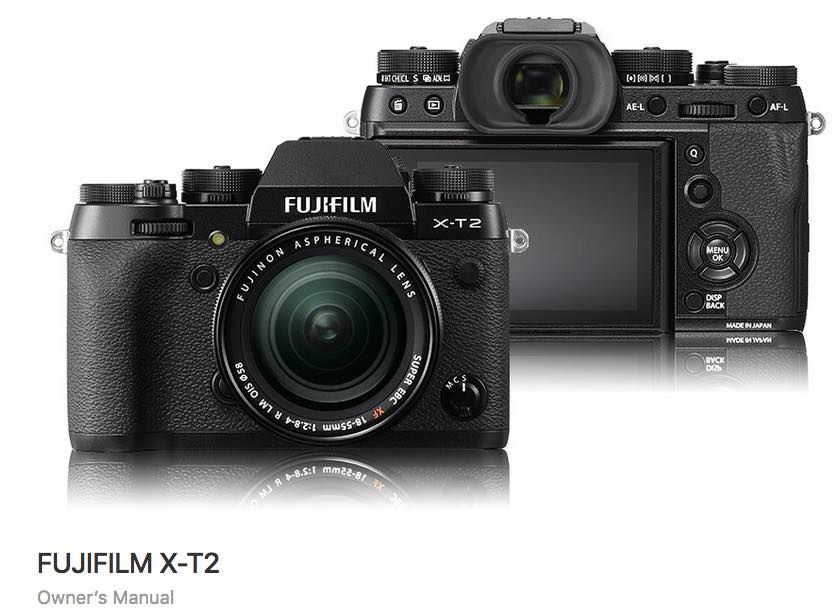 Fujifilm X-T2 Owners Manual Download