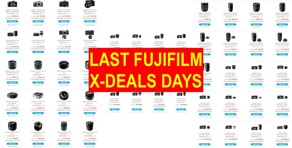 Last Fujifilm X-Deal Days