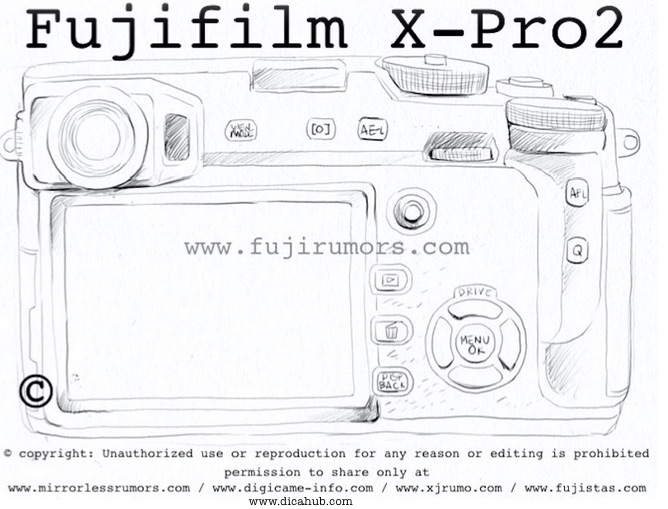 ** LIVE LEAKING ** This is how the Fuji X-Pro2 will look like :: REFRESH this Page – More sketches coming!