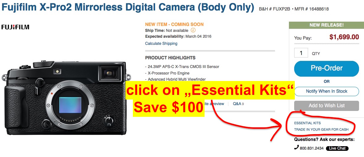 Fuji X-Pro2 IN STOCK at BHphoto :: AmazonUS says available